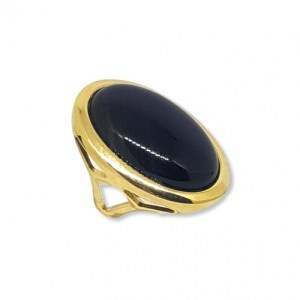 Large Oval Black Agate Gemstone Ring - 0830blackagate 740x 500x500