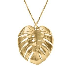 MONSTERA LEAF PENDANT 18ct Gold Vermeil - 10D70EDE 0E12 426F 95CE 2C172D8BB602 500x500