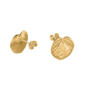STOLEN HEART LEAF STUD EARRINGS 18ct Gold Vermeil - 1ADFE32E D667 48F3 86C6 7CD61303D622 500x500