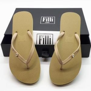 Cannes Star Crystal Flip Flops – Gold