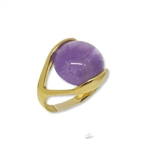 Round Amethyst Gemstone Ring - 20210127 231147 clipped rev 1 740x 500x500