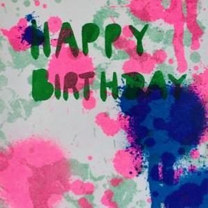 A6 Card x Happy Birthday Splash