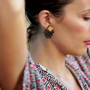 ALICE GRAPHIK box earrings