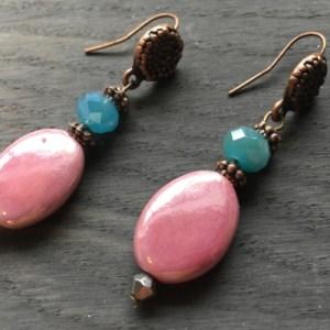 Pink and blue Earrings - 47e555496608db2a47ffa0407f9fa21e7fb16bbb 500x500