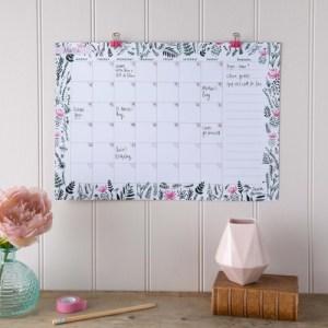 Monthly Wall Calendar & Goal Planner