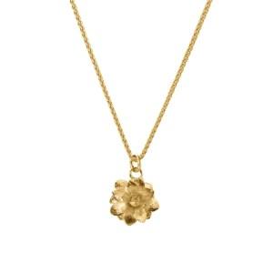 LOTUS FLOWER SUCCULENT CHARM NECKLACE 18ct Gold Vermeil - 59E910F4 566C 44E1 BEC2 B902083A0BF9 500x500