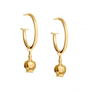 POPPY SEED HEAD HOOP EARRINGS 18ct Gold Vermeil - 719E0CB3 E89B 4CE3 9A4D 0868AFCC61DF 500x500