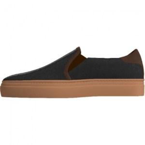 Women's Black Mocha Slip-On Shoes