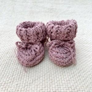 Cotton Tie Booties - Dusky Pink - 84AFF07A 4C9D 4A75 994C 56BBE4AFDA8F 1024x1024 500x500