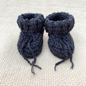 Cotton Tie Booties - Navy - A6A5D40D C869 487B BCC1 8756426E1122 1024x1024 500x500