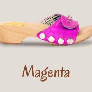 Metallic Magenta Clogs