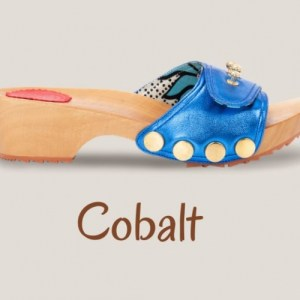 Metallic Cobalt Clogs
