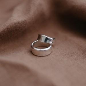 Silver Chunky Melt Ring - ChunkySilverMeltedRing 500x500