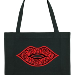 Claudia Fürst • EcoFashion Shopper Bag • RoseLips Red