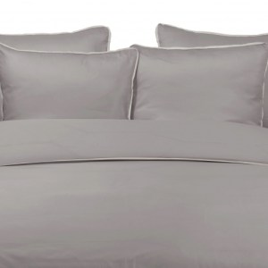 Duvet Cover BAMBOO DAWN with DUNE LINEN PIPING 260X240cm incl 2 Pillow Covers 60x70cm