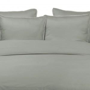 Duvet Cover TENCEL EUCALYPT with DUNE LINEN PIPING 260X240cm incl 2 Pillow Covers 60x70cm