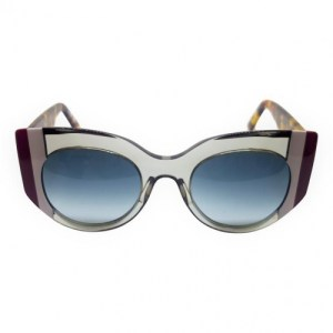 Gustavo Eyewear – G13 -Tr Gray – Gray and Burgundy Stripes