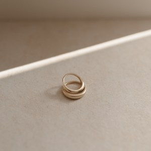 Recycled 9ct Gold Fluid Ring - RoundedGoldRing3 500x500