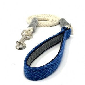 Royal Blue & Turquoise – Harris Design – Rope Lead