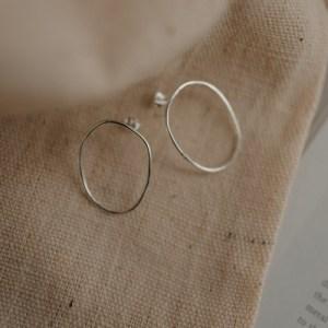 Free-formed Organic Oval Earrings - StatementOrganicShapedHoops3 500x500