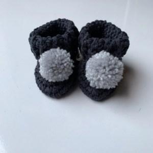 Organic Cotton Pom Pom Booties - Navy - Untitleddesign 15 1024x1024 500x500