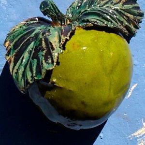 Ceramic stoneware wall fruits