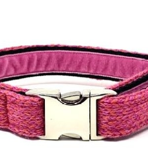 Geranium & Pink – Harris Design – Dog Collar