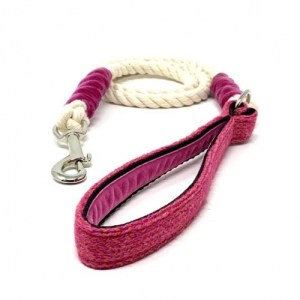 Geranium & Pink - Harris Design - Rope Lead - geraniumpinkharris d281e28f be35 46f1 a992 32ffd19703be 590x 500x500