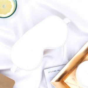 Silk Pillowcase & Eye Mask Set- Juliet White