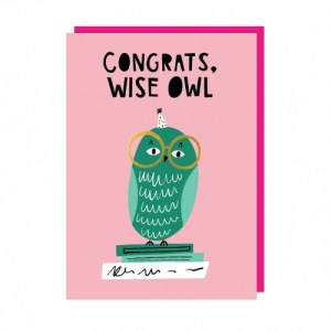 Owl Greeting Card pack of 6 - owl web 500x500