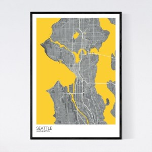 Seattle City Map Print - Dark Grey/Yellow - seattle washington map A2 ptr darkgrey yellow offwhite ps1 t3 6fb12832 19e3 4642 a36b 25f3796ff98c 1024x1024@2x 500x500