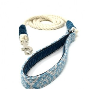 Turquoise & Dove – Barclay Design – Rope Lead