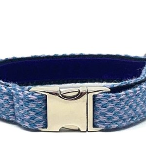 Turquoise & Lilac – Harris Design – Dog Collar