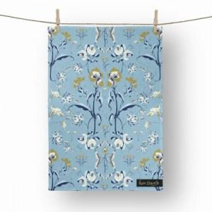 Botanical Delphine Tea Towel - tw14 500x500
