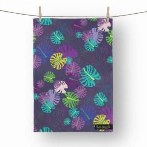 Ultra Violet Tropic Tea Towel - tw4 500x500