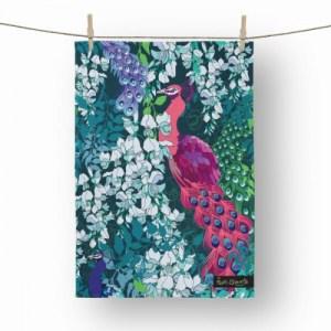 Peacock Maximalist Tea Towel - tw7 500x500