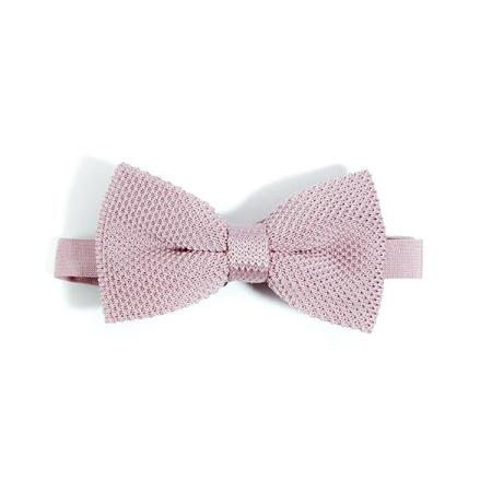 Dusty pink knitted bow tie