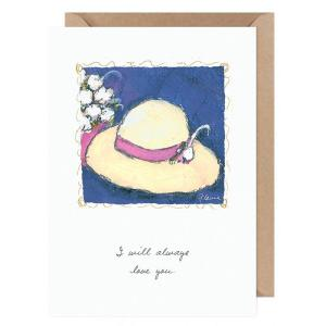 I will always love you ....Flavia Card by Flavia Weedn 100% Cotton  Tree Free Made in Switzerland  0003-2120