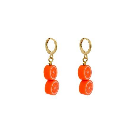 Double orange earrings