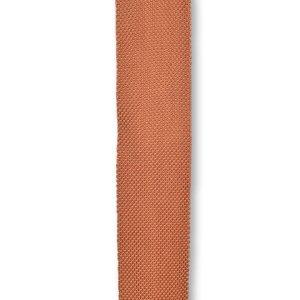 Rustic orange knitted tie