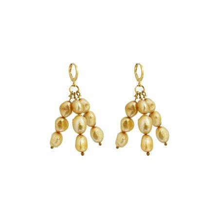 Igi (Trees) Gold Pearl earrings