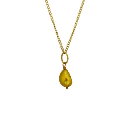 Freshwater Gold Pearl Necklace