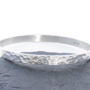 Silver Bangle, Sterling Silver Bracelet, Hammered Silver Bangle, Sterling Silver Jewellery, Gift for Her