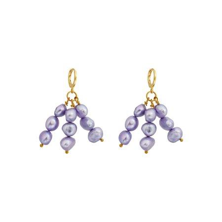 Igi (Trees) Lavendar Pearl earrings