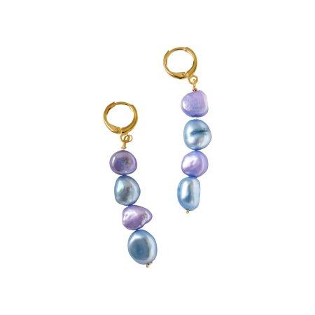 Double (meji-meji) pearl earrings