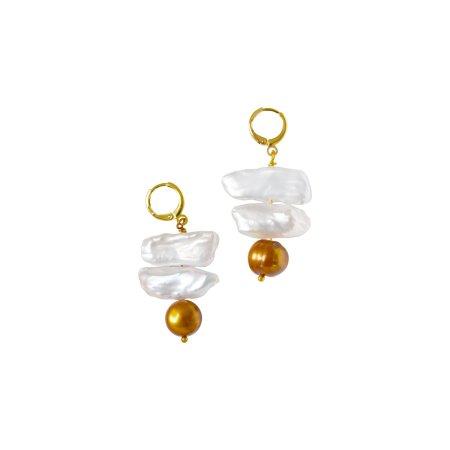 Ọna (the way) signpost pearl earrings