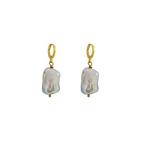 Unique Silver Pearl Earrings