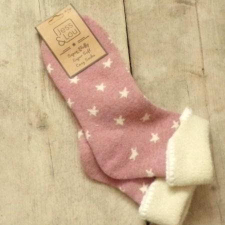 Cosy Cuff Socks with Stars S104P