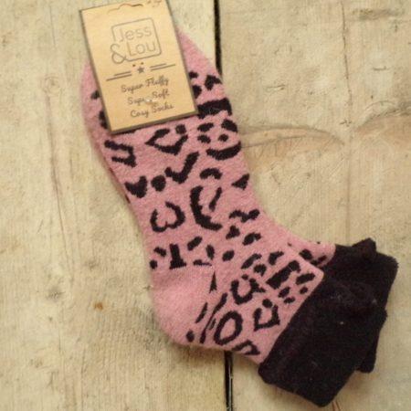 Cosy Cuff Socks with Animal Design S109P