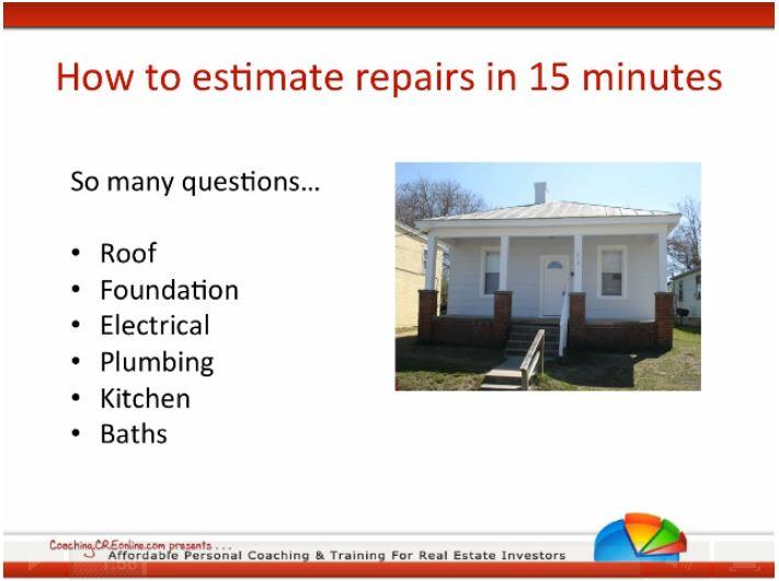 estimate home repairs